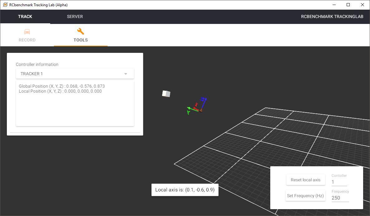 RCbenchmark tracking lab 3D plot